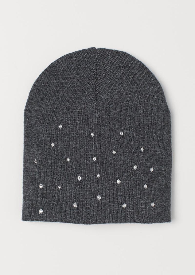 H&M H & M - Hat with Rhinestones - Gray