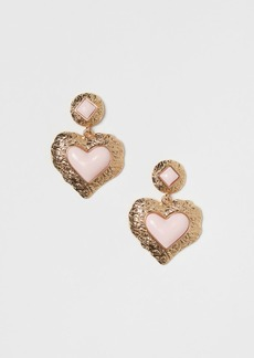 H&M H & M - Heart-shaped Earrings - Pink