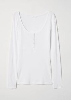 H&M H & M - Henley Shirt - White