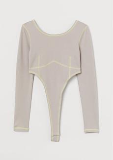 H&M H & M - High-leg Bodysuit - Brown