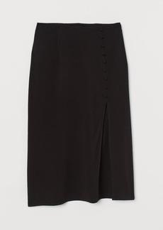 H&M H & M - High-split Skirt - Black