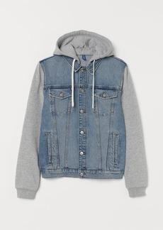 H&M H & M - Hooded Denim Jacket - Blue
