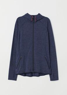 H&M H & M - Hooded Fleece Jacket - Blue
