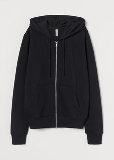 H&M H & M - Hooded Jacket - Black