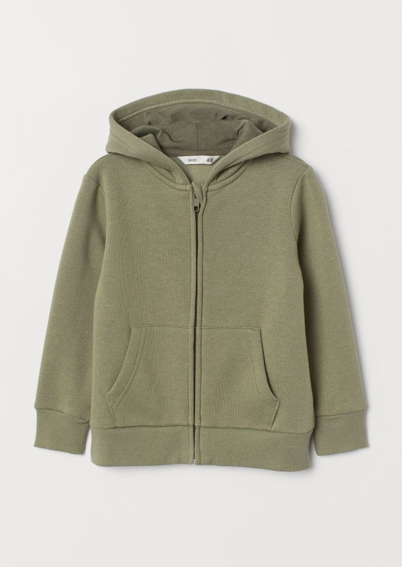 H&M H & M - Hooded Jacket - Green
