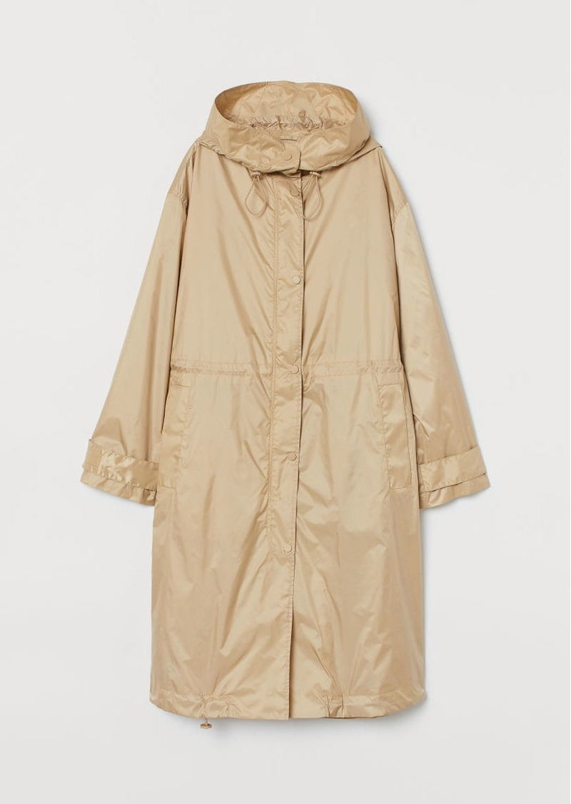H&M H & M - Hooded Parka - Beige