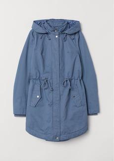 H&M H & M - Hooded Parka - Blue