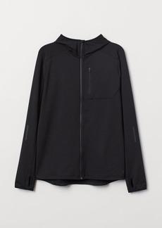 H&M H & M - Hooded Running Jacket - Black