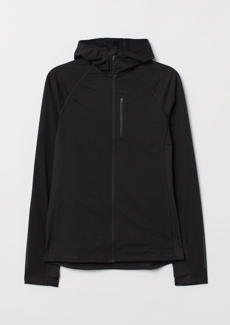 H&M H & M - Hooded Running Jacket - Black