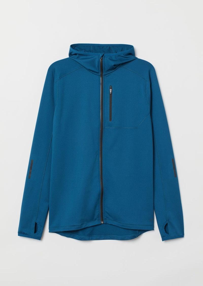 H&M H & M - Hooded Running Jacket - Blue