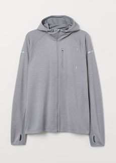 H&M H & M - Hooded Running Jacket - Gray