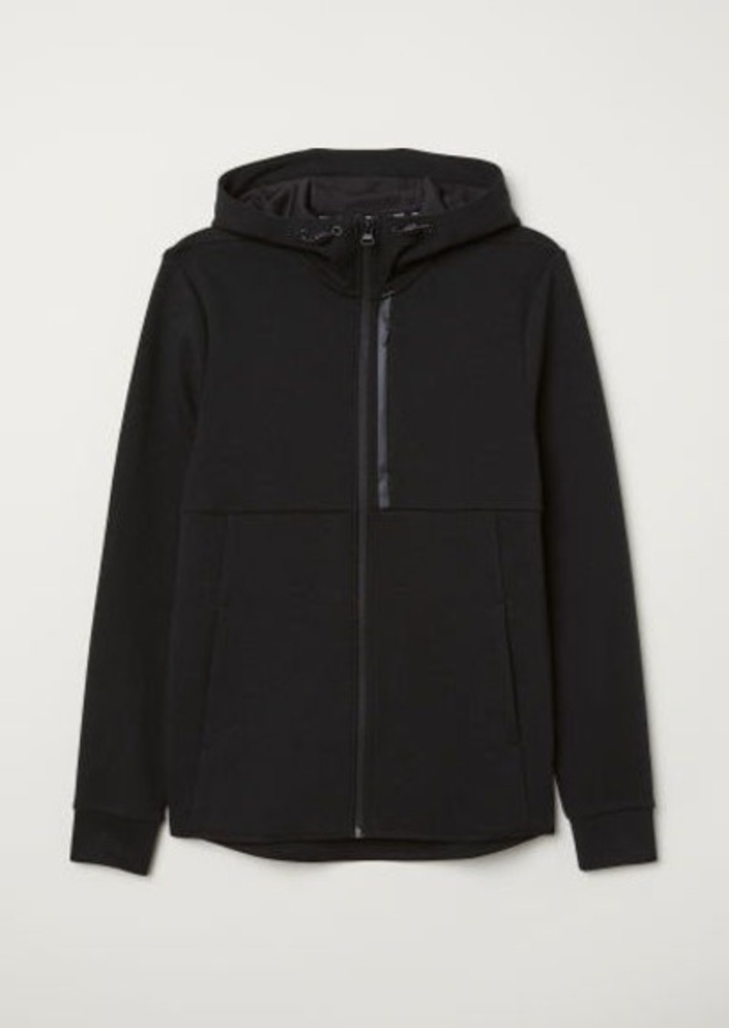 H&M H & M - Sporty Hooded Jacket - Black