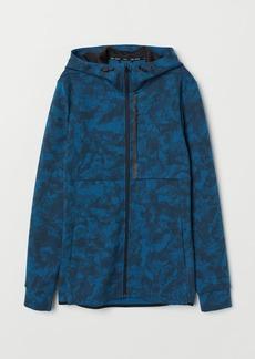 H&M H & M - Hooded Sports Shirt - Blue