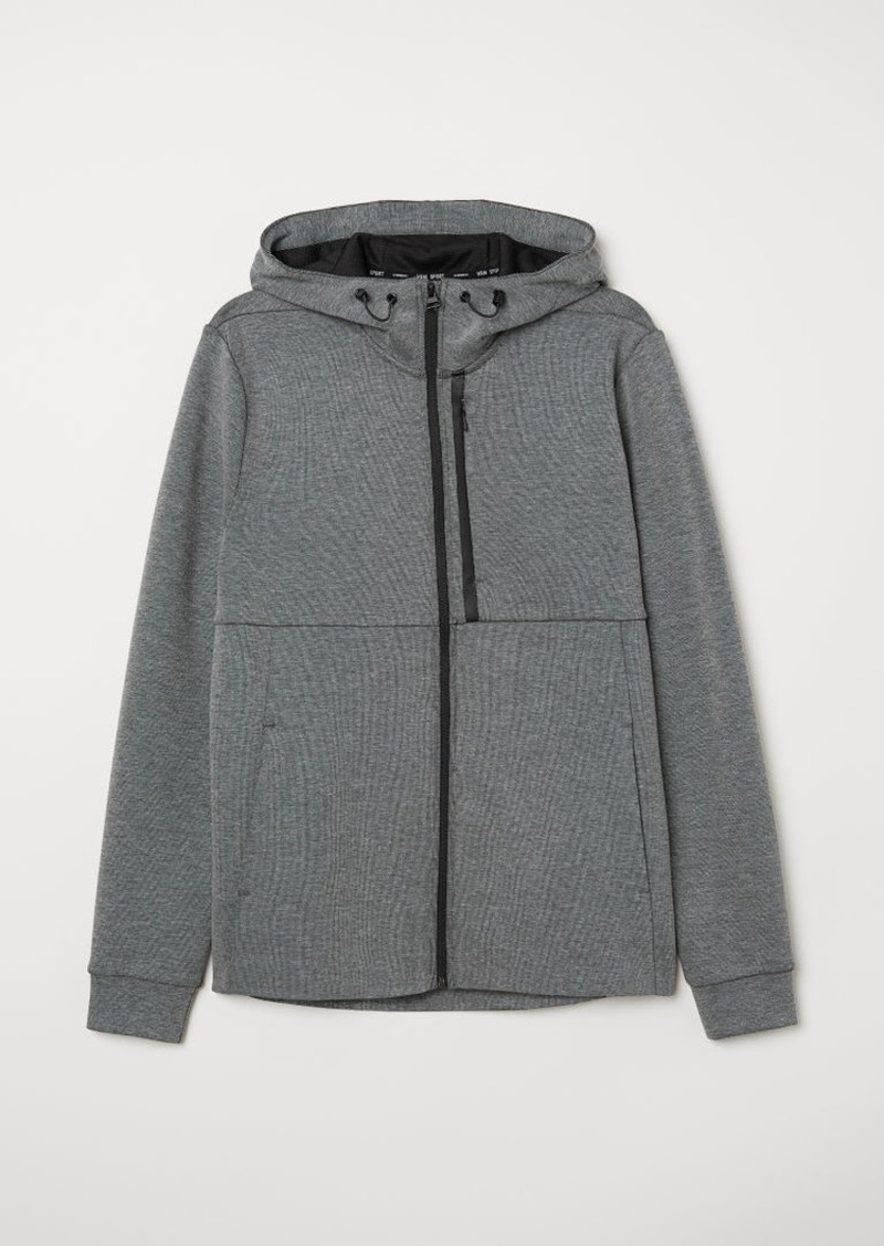 H&M H & M - Sporty Hooded Jacket - Gray