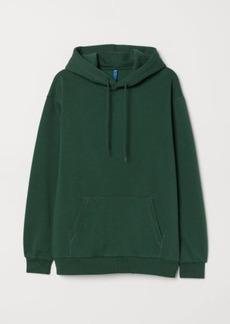 H&M H & M - Hooded Sweatshirt - Green
