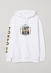 H&M H & M - Hooded Sweatshirt - White