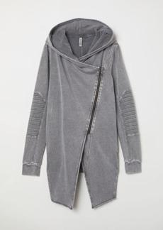 H&M H & M - Hooded Sweatshirt Cardigan - Gray