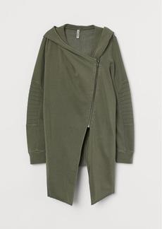 H&M H & M - Hooded Sweatshirt Cardigan - Green