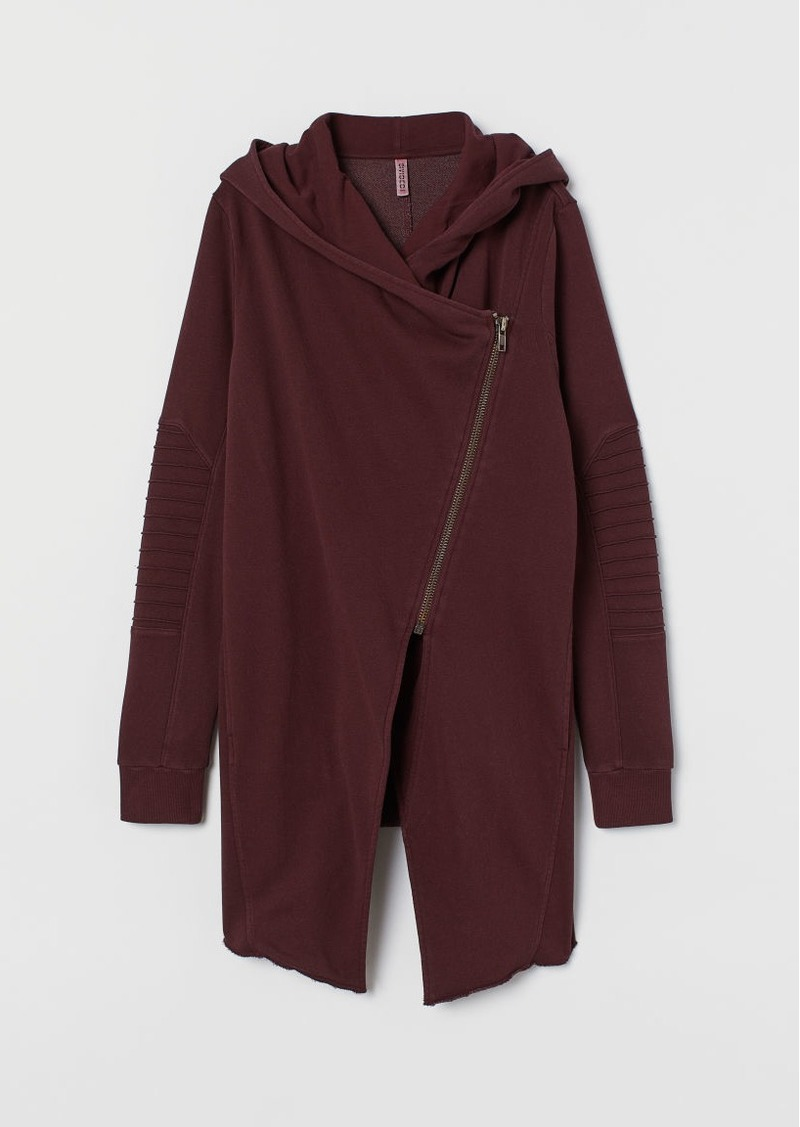 H&M H & M - Hooded Sweatshirt Cardigan - Red