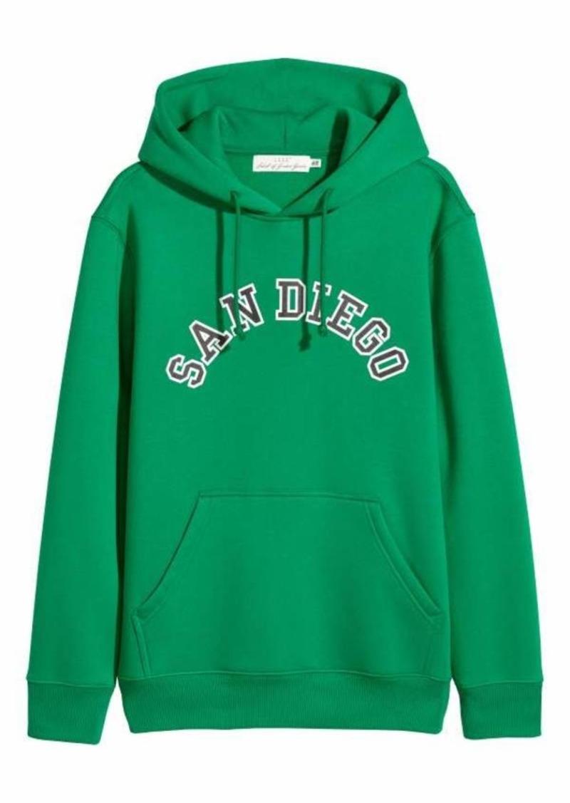 fdd2297c7 H&M H & M - Hooded Sweatshirt with Motif - Black - Men   Outerwear