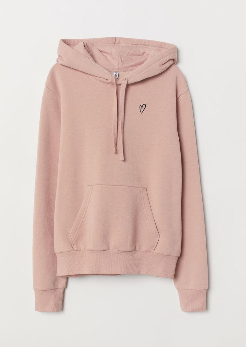 7a76b132f H&M H & M - Hooded Sweatshirt with Motif - Orange   Outerwear