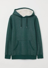 H&M H & M - Hooded Sweatshirt with Pile - Green