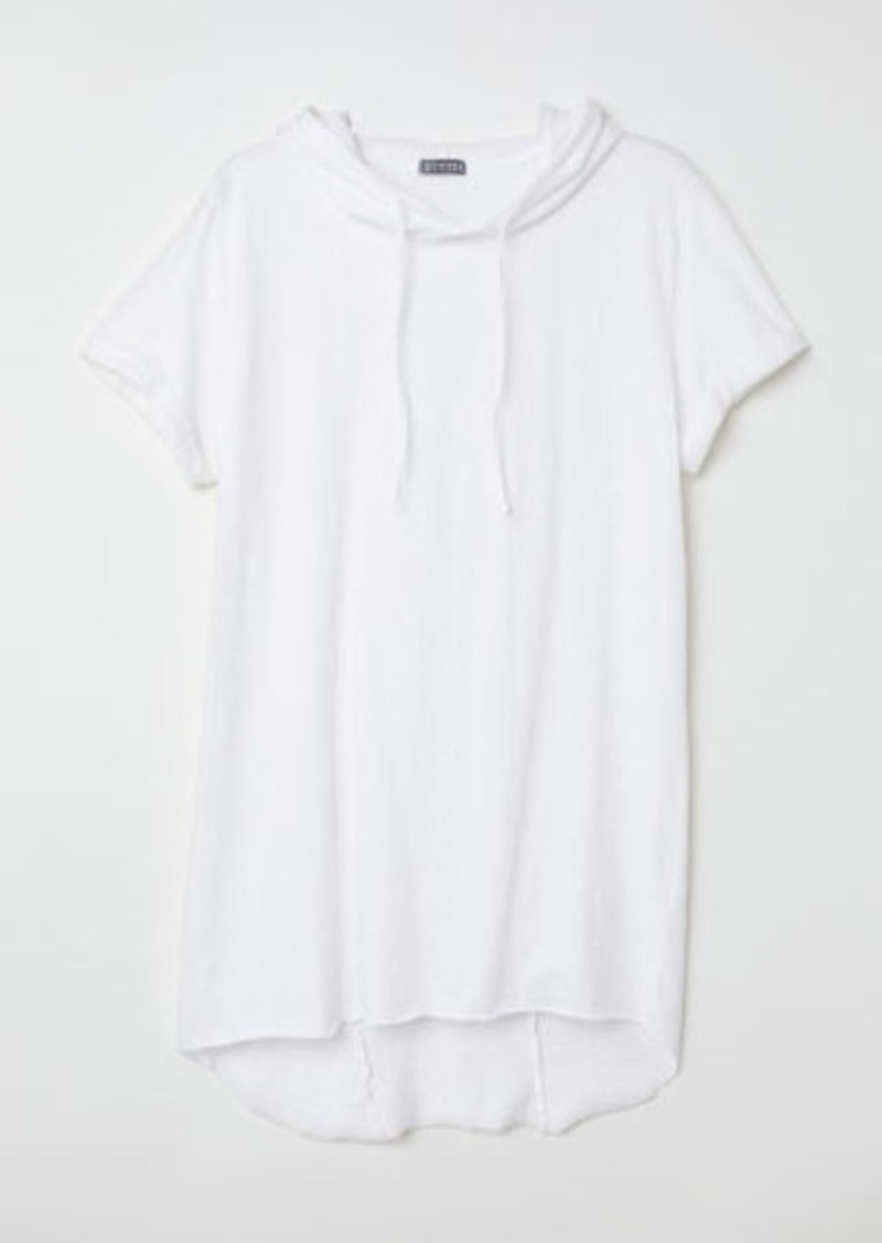 H&M H & M - Hooded T-shirt - White