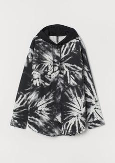 H&M H & M - Hooded Utility Shirt - Black