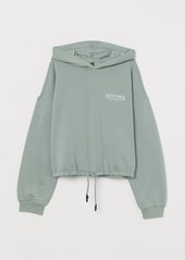 H&M H & M - Hoodie with Drawstring Hem - Green