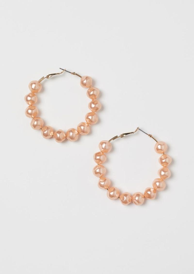 H&M H & M - Hoop Earrings - Pink