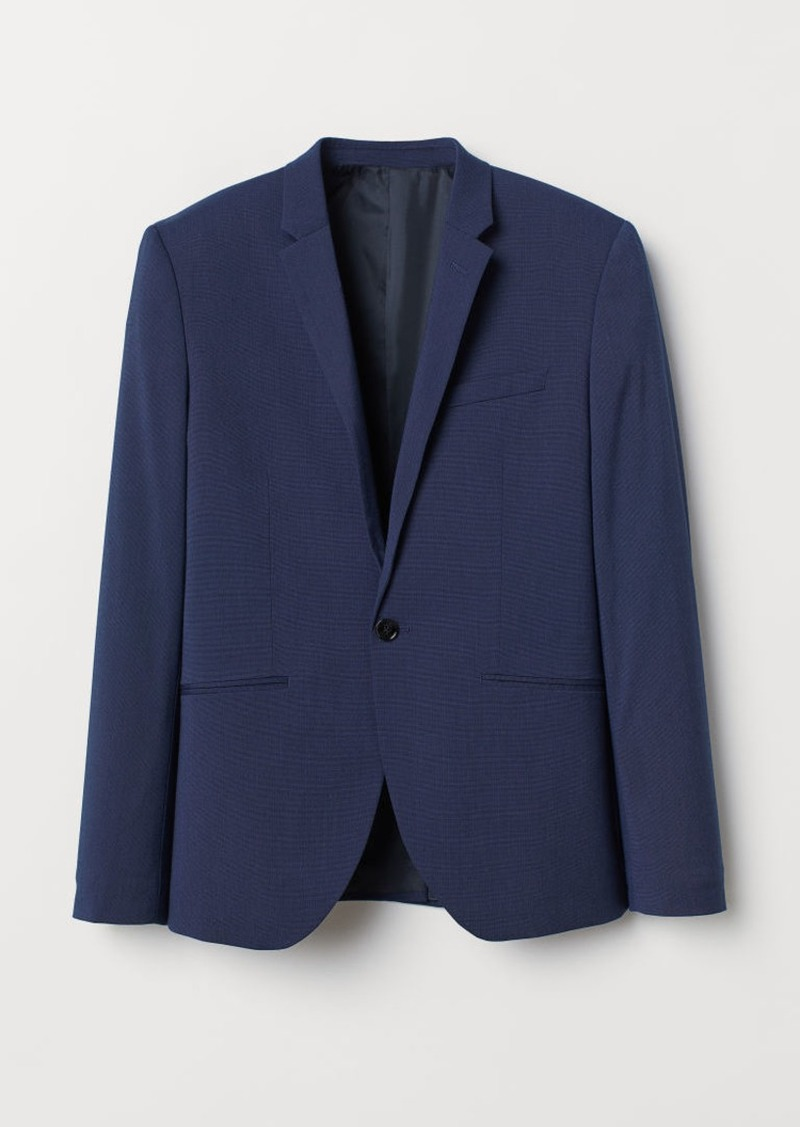 H&M H & M - Super Skinny Fit Blazer - Blue