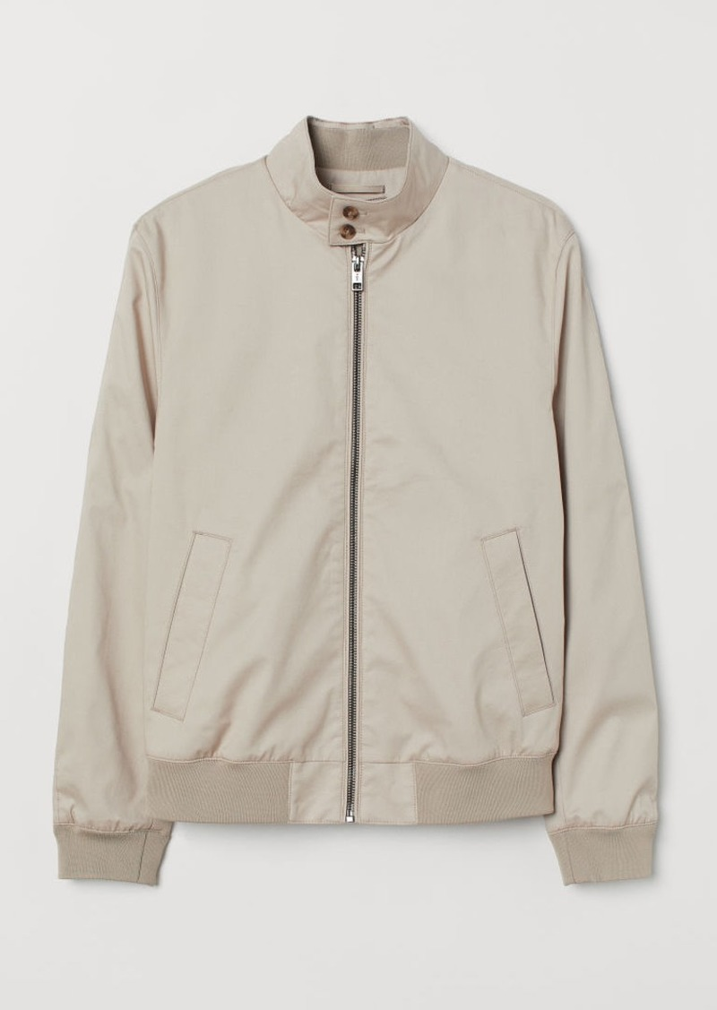 H&M H & M - Jacket with Stand-up Collar - Beige