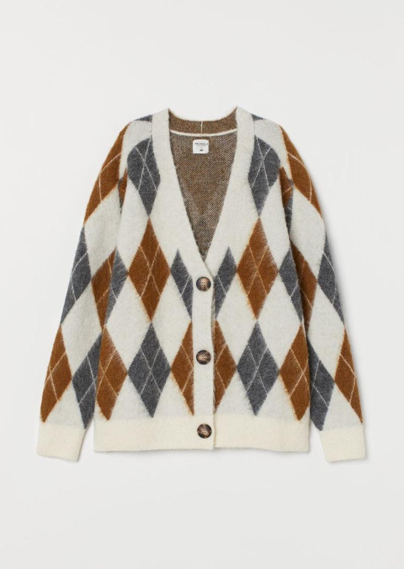H&M H & M - Jacquard-knit Cardigan - Beige