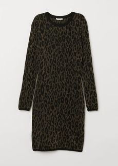 H&M H & M - Jacquard-knit Dress - Black