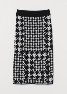 H&M H & M - Jacquard-knit Skirt - Black