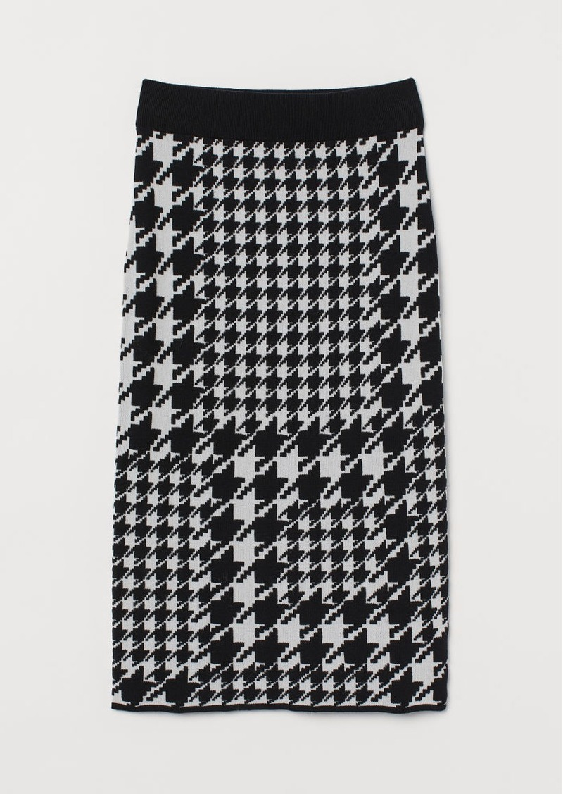 H&M H & M - Jacquard-knit Skirt - Black