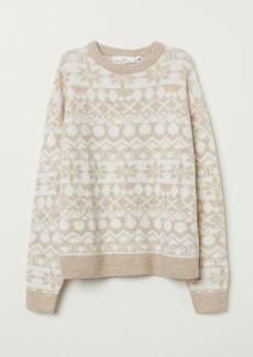 H&M H & M - Jacquard-knit Sweater - Beige