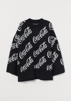 H&M H & M - Jacquard-knit Sweater - Black