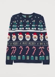 H&M H & M - Jacquard-knit Sweater - Blue