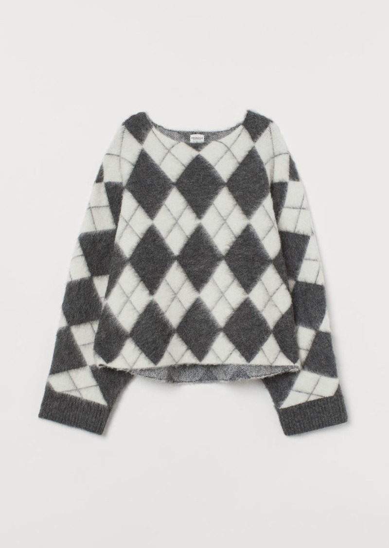 H&M H & M - Jacquard-knit Sweater - Gray