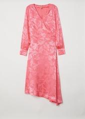 Hm h  m   jacquard weave dress   pink abv1ae9baf8 a