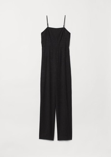 H&M H & M - Jacquard-weave Jumpsuit - Black