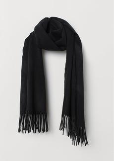 H&M H & M - Jacquard-weave Scarf - Black