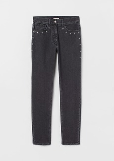 H&M H & M - Jeans with Embroidery - Black