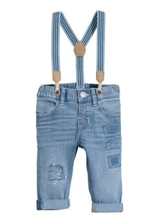H&M H & M - Jeans with Suspenders - Blue