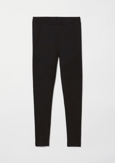 H&M H & M - Jersey Biker Leggings - Black