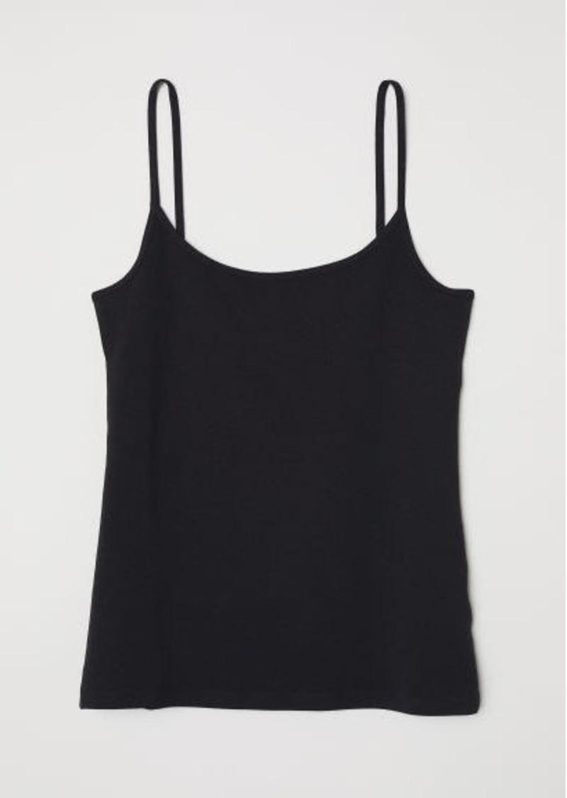 H&M H & M - Jersey Camisole Top - Black