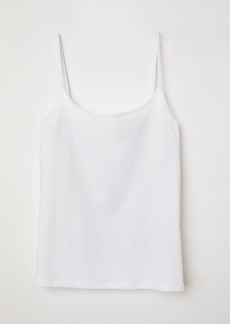 H&M H & M - Jersey Camisole Top - White