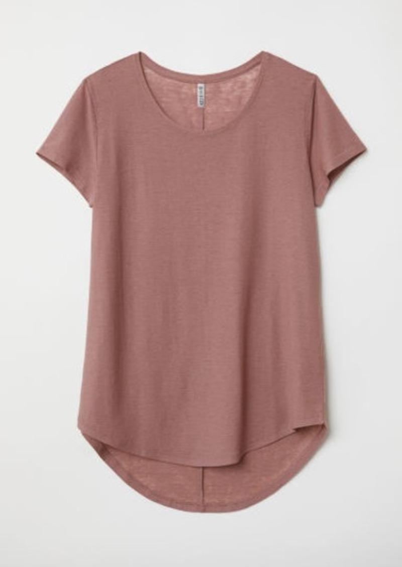 H&M H & M - Jersey Top - Pink