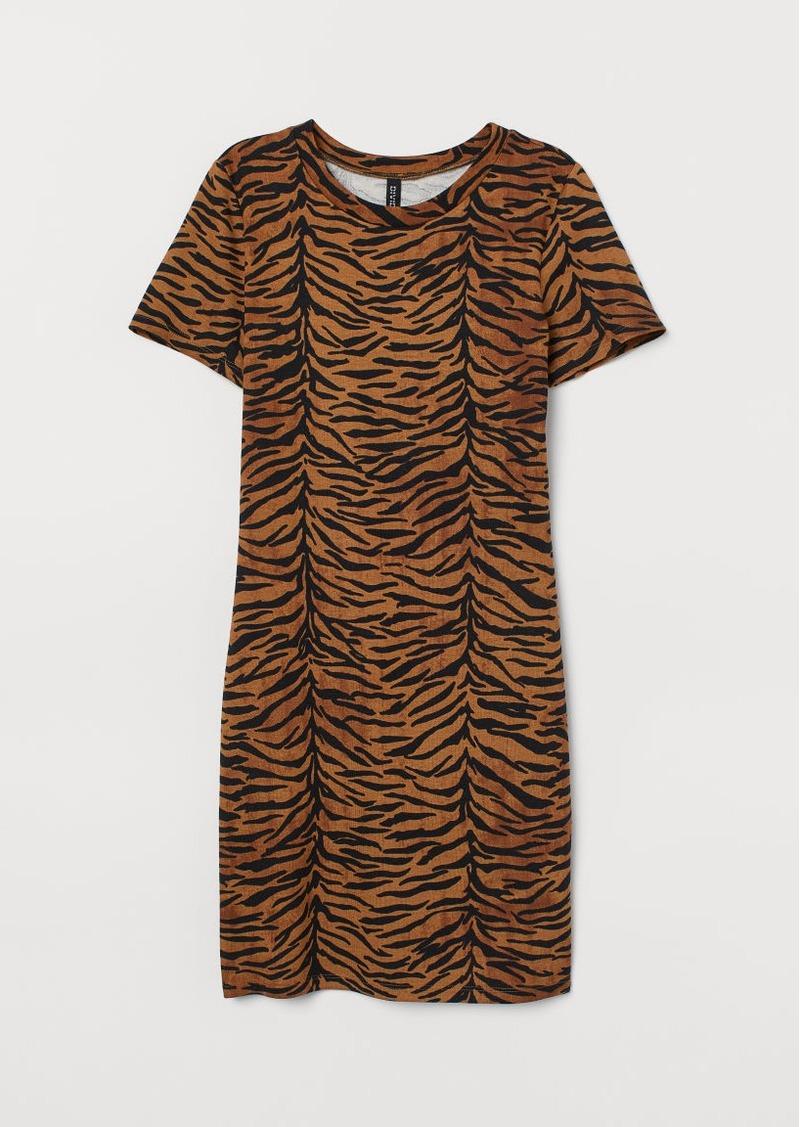 H&M H & M - Jersey Dress - Beige